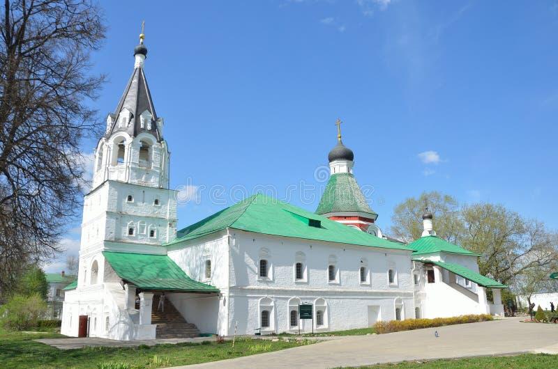 ?glise de Pokrovskaya dans Alexandrovskaya Sloboda, Alexandrov, r?gion de Vladimir, anneau d'or de la Russie photos stock