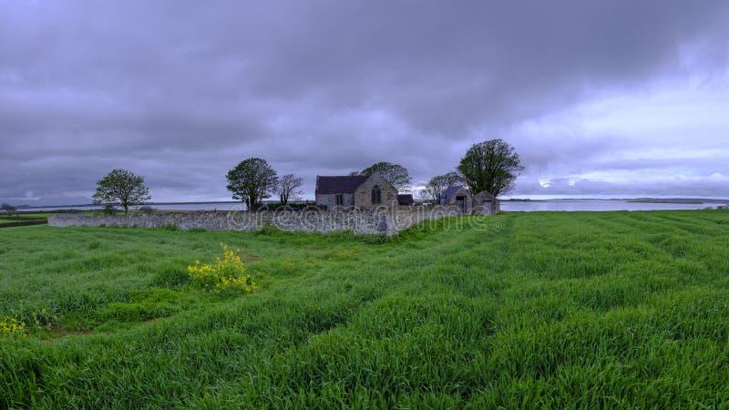 ?glise de St Baglan, Llanfaglan photographie stock libre de droits