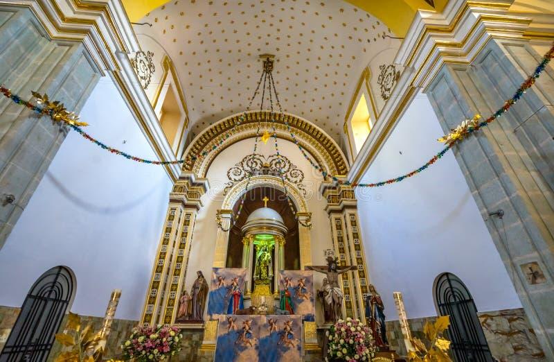 ?glise Oaxaca Mexique de Guadalupe Temple Convent Carmen Alto d'autel de basilique images libres de droits