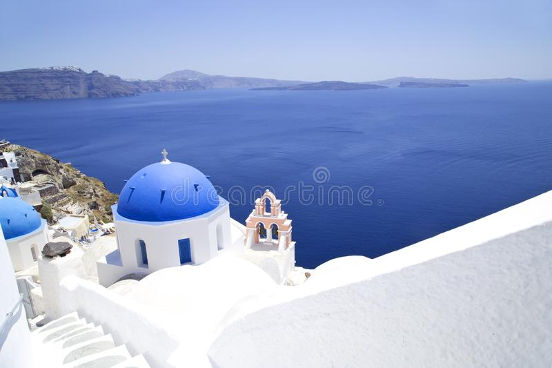 ?glise sur Santorini photo stock