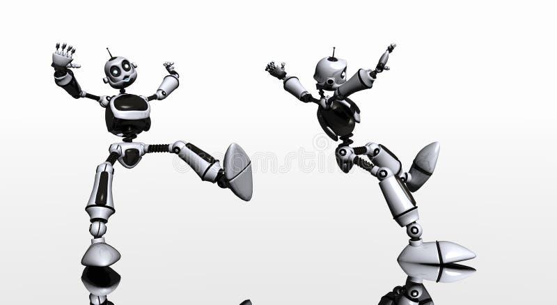 Glissades et automnes de robot illustration stock