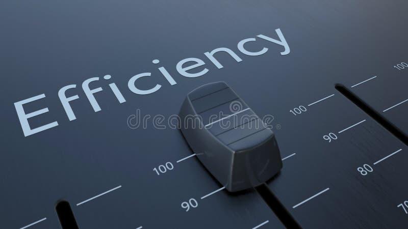 Glissement de l'affaiblisseur avec l'inscription d'efficacité, macro Rendu 3d conceptuel illustration libre de droits