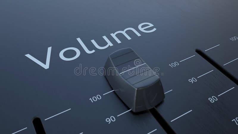 Glissement de l'affaiblisseur avec l'inscription de volume, macro Rendu 3d conceptuel illustration stock