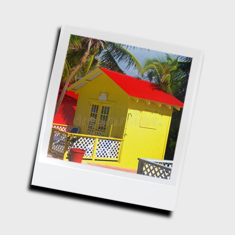 Glissière de photo des vacances illustration libre de droits