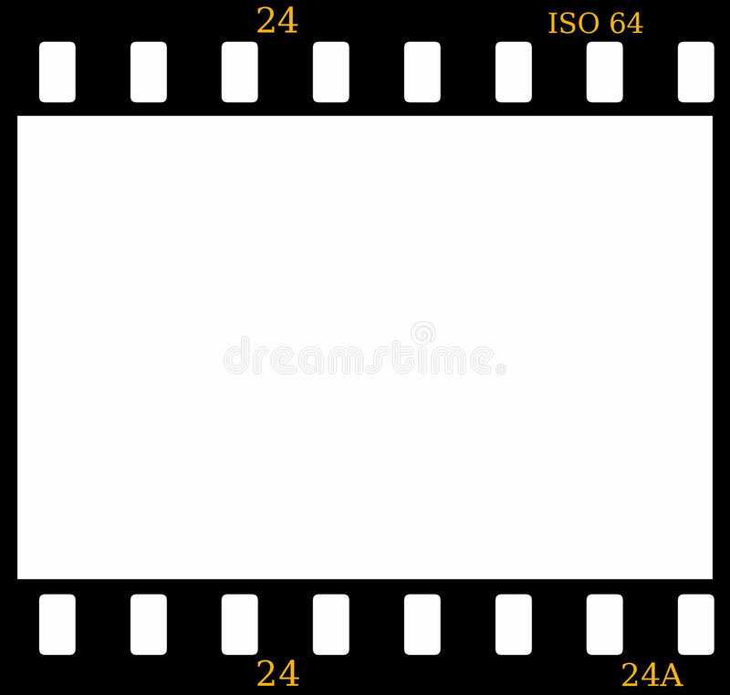 glissière de trame de film couleurs de 35mm illustration de vecteur