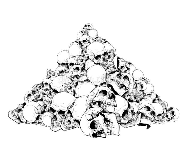Glissière des crânes humains illustration libre de droits