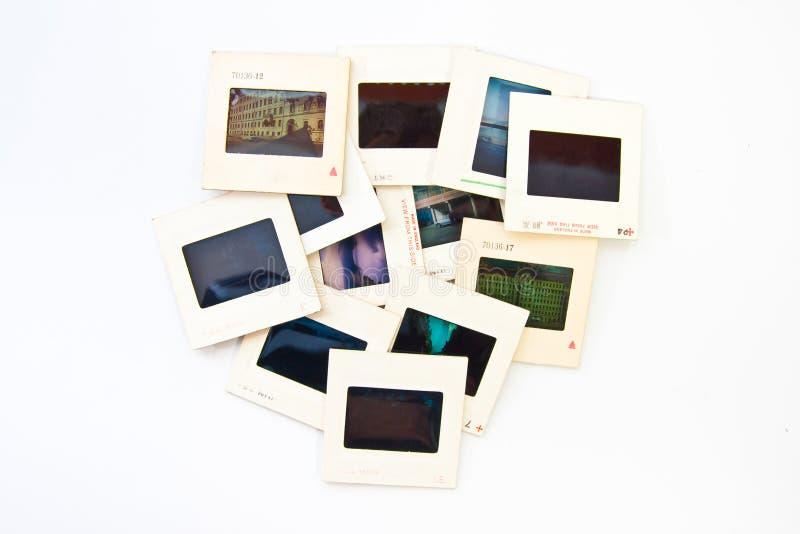 Glissières de photo de cru images libres de droits