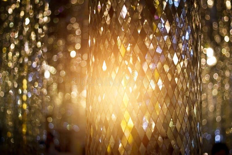 Glister mozaiki szkło filar dla dekorować i wnętrza obraz stock