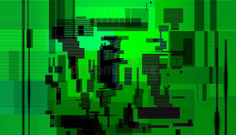 Glitch abstract background,Computer screen error royalty free illustration
