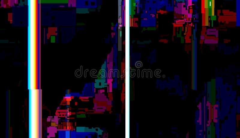Glitch Abstracte Achtergrond, Technisch probleem grunge stock illustratie