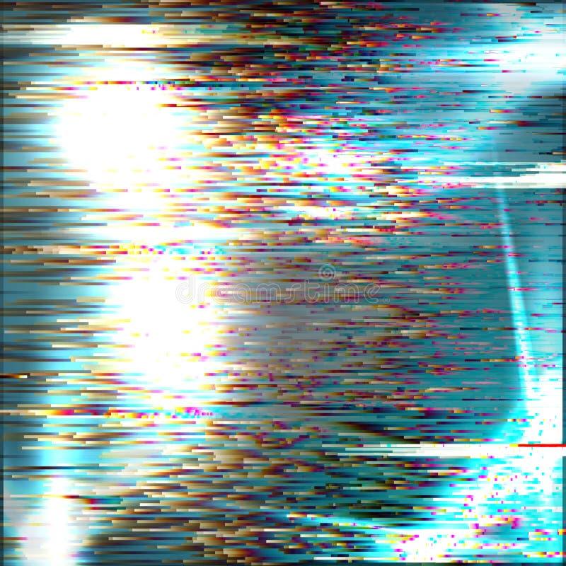 Glitch achtergrond De fout van het computerscherm Het digitale abstracte ontwerp van het pixellawaai Het televisiesignaal ontbree vector illustratie