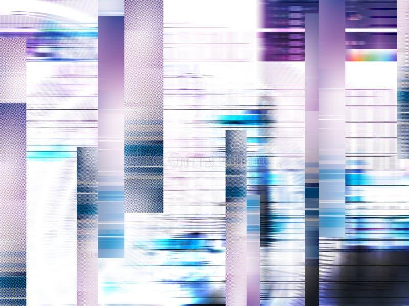 Glitch achtergrond De fout van het computerscherm Het televisiesignaal ontbreekt vector illustratie
