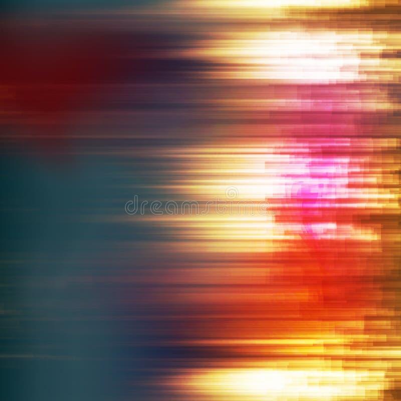 Glitch Achtergrondvector Digitaal signaalfout Donkere Glitch Achtergrond royalty-vrije illustratie
