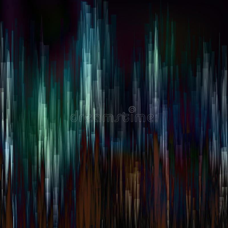 Glitch Background Vector. Digital Pixel Noise Abstract Design. Colorful Dark Glitched Stripes. royalty free illustration