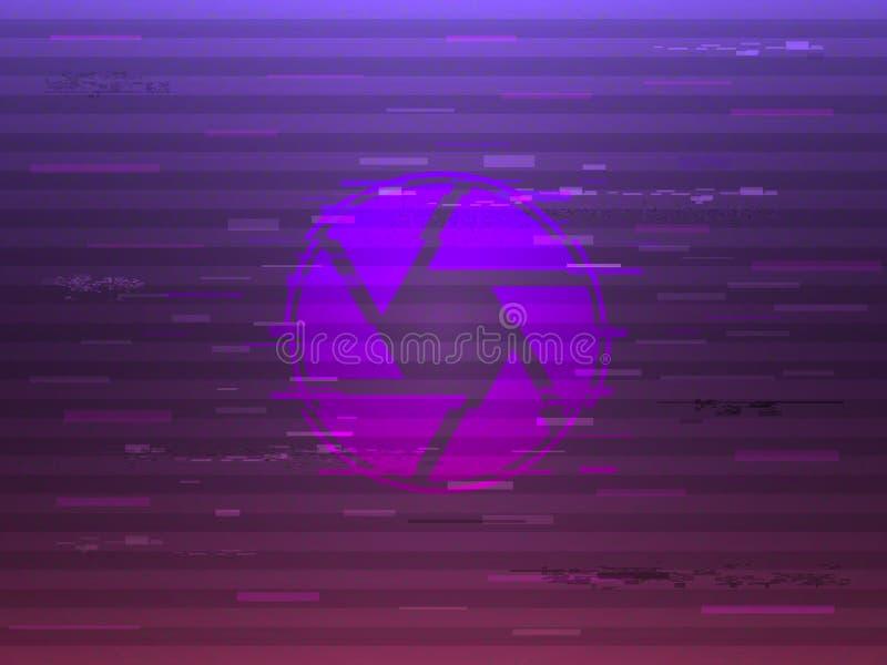 Glitch blind op heldere achtergrond Modern glitched concept Vervormd diafragma met kleurenelementen Gloedontwerp voor vector illustratie