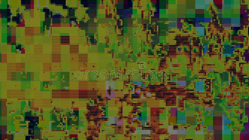 Glitch digital abstract artifacts distortion background,  channel damage. Glitch digital abstract artifacts distortion background futuristic,  channel damage royalty free illustration
