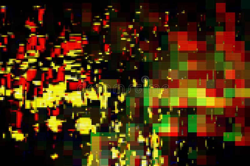 Glitch digital abstract artifacts distortion background,  channel. Glitch digital abstract artifacts distortion background futuristic,  channel stock illustration