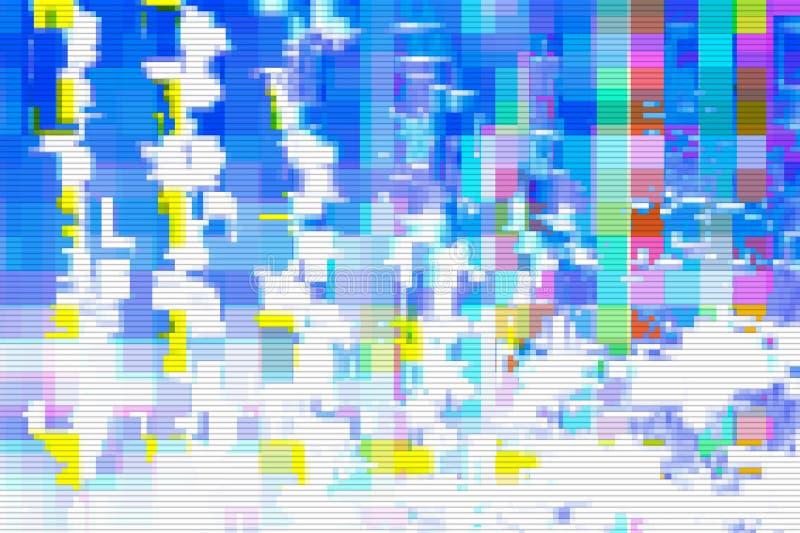 Glitch digital design background texture,  grunge. Glitch digital design background and texture noise abstract,  grunge royalty free illustration
