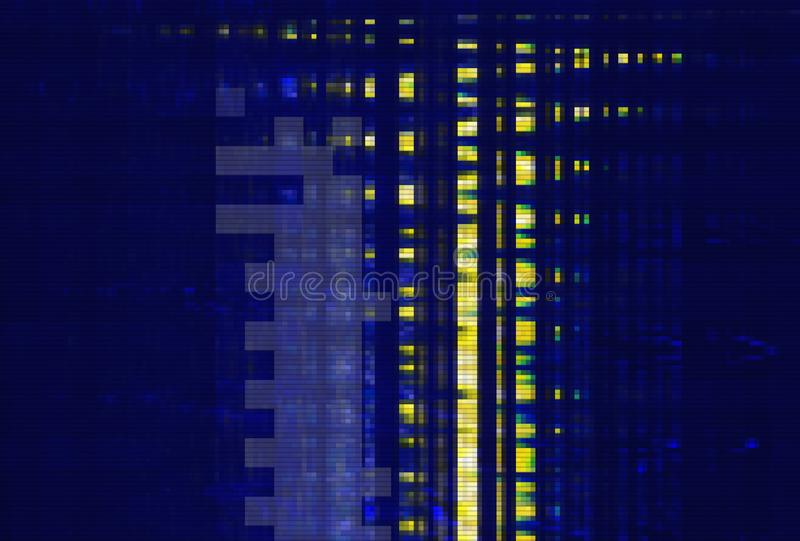 Glitch digital design background texture,  screen grunge. Glitch digital design background and texture noise abstract,  screen grunge stock illustration