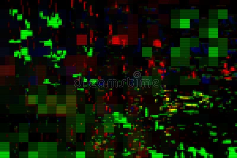 Glitch digital screen pattern abstract,  design distortion. Glitch digital screen pattern abstract background noise,  design distortion stock illustration