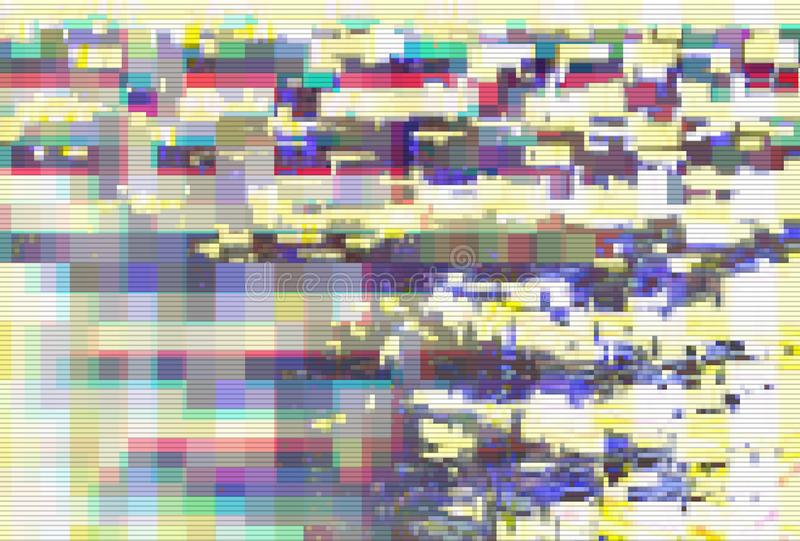 Glitch digital screen pattern abstract,  technology design. Glitch digital screen pattern abstract background noise,  technology design vector illustration