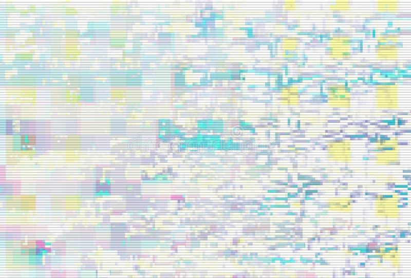 Glitch digital screen pattern white,  light geometric. Glitch digital screen pattern white background noise,  light geometric vector illustration