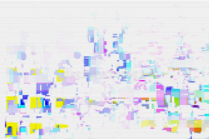 Glitch digital screen pattern white,  modern. Glitch digital screen pattern white background noise,  modern vector illustration