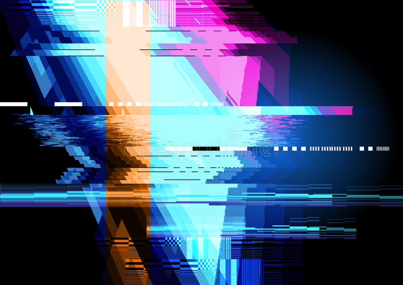Glitch Displacement Background royalty free illustration