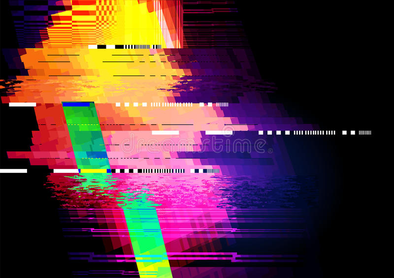 Glitch and distorted texture pattern royalty free illustration