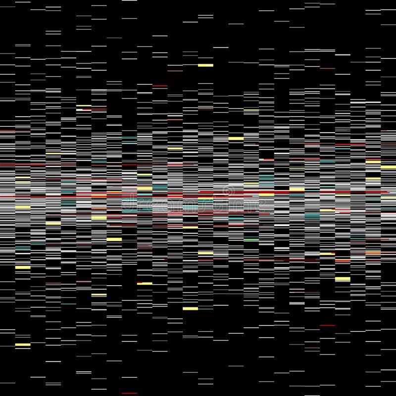 Glitch elements set. Computer screen error templates. Digital pixel noise abstract design. Video game glitch. Glitches. Collection. Television signal fail. Data royalty free illustration