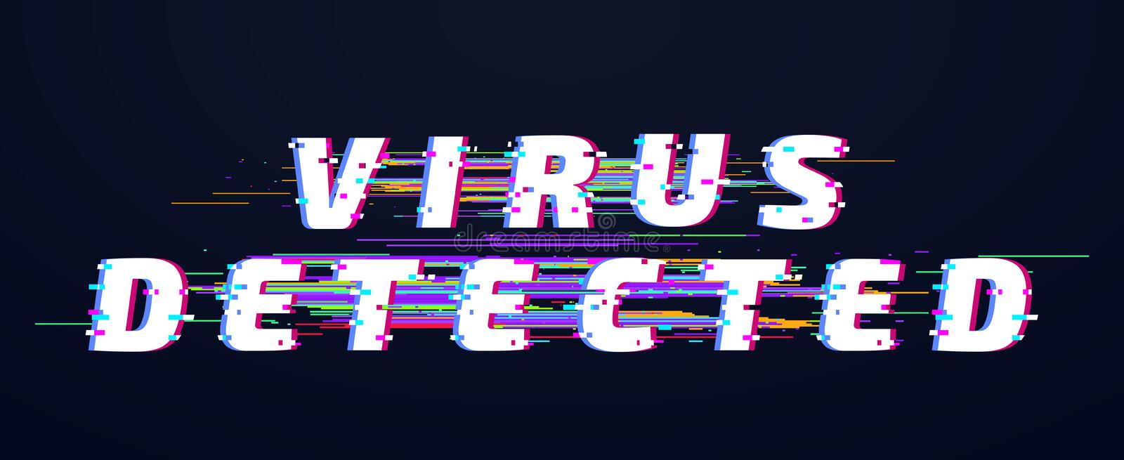 Glitch font.Glitch font. Virus detected glitched digital letters. Old glitch tv distortion abstract vhs futuristic virus stock illustration