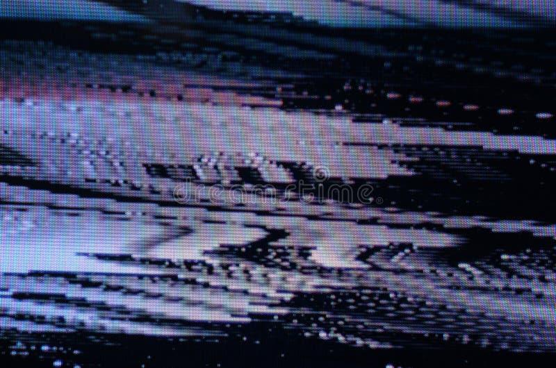 Glitch het Scherm van TV royalty-vrije stock afbeelding