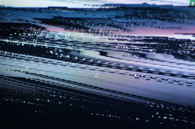 Glitch het Scherm van TV royalty-vrije stock fotografie