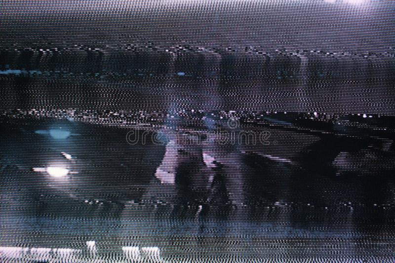 Glitch het Scherm van TV Originele analoge fout op TV-het scherm royalty-vrije stock afbeelding