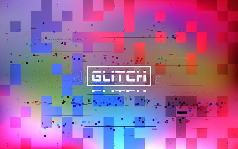 Glitch holographic background. Cyberpunk retro effect. Futuristic broken texture with color spots. Video signal error royalty free stock photo