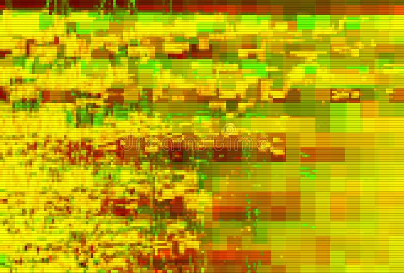Glitch pixel data moshing digital noise,  graphic. Glitch pixel data moshing digital noise screen background,  graphic stock illustration