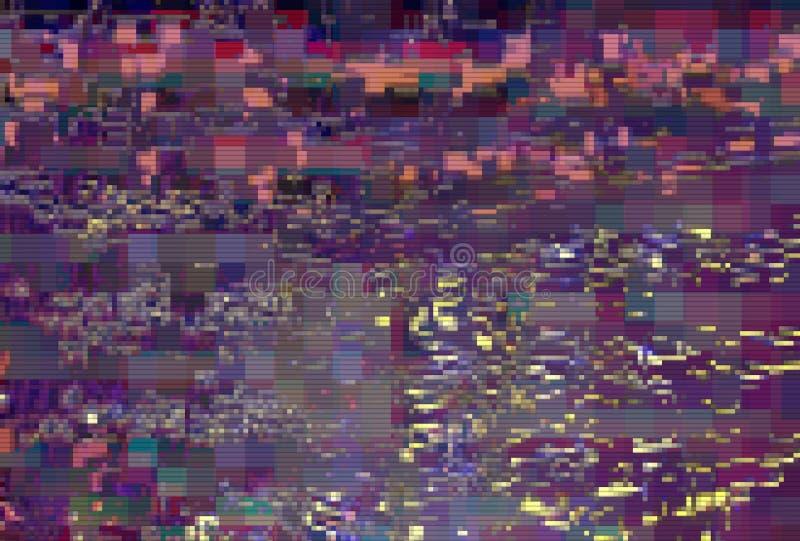 Glitch pixel digital pattern noise,  old. Glitch pixel digital pattern noise vintage background,  old stock illustration