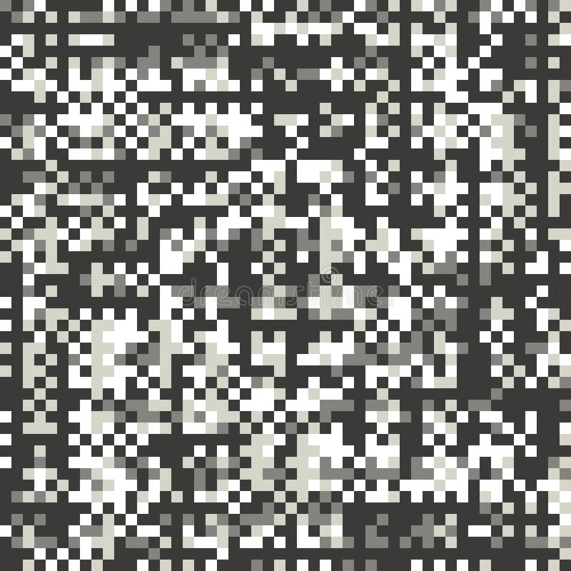 Glitch, pixel style flat vector seamless pattern vector illustration