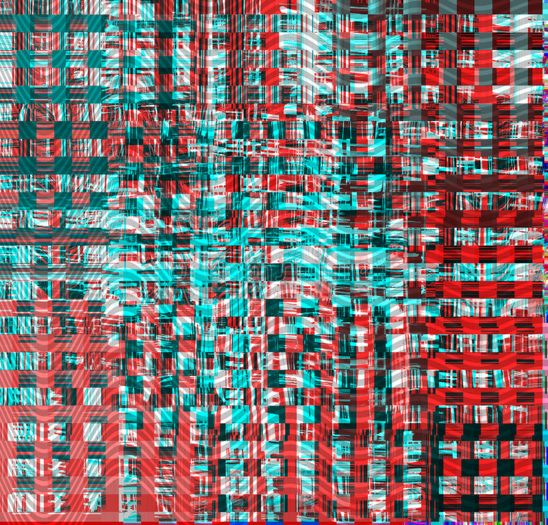 Glitch psychedelic background. Old TV screen error. Digital pixel noise abstract design. Photo glitch. Television signal stock photo
