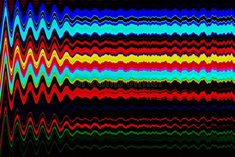 Glitch psychedelische achtergrond Oude TV-het schermfout Het digitale abstracte ontwerp van het pixellawaai Fotoglitch Televisies stock foto