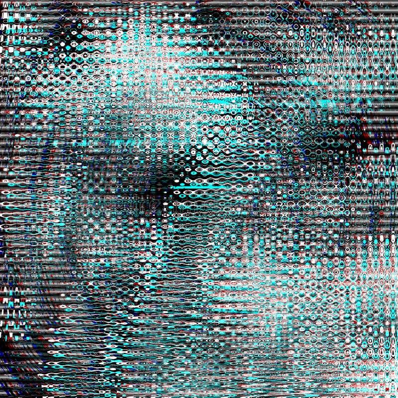 Glitch psychedelische achtergrond Oude TV-het schermfout Het digitale abstracte ontwerp van het pixellawaai Fotoglitch Televisies stock afbeeldingen