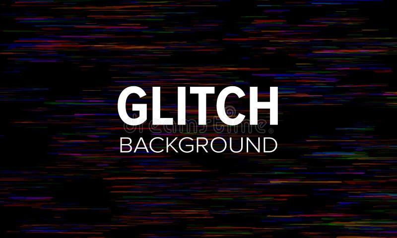 Glitch stijl donkere abstracte achtergrond Vervormd pixel vectorbehang royalty-vrije illustratie