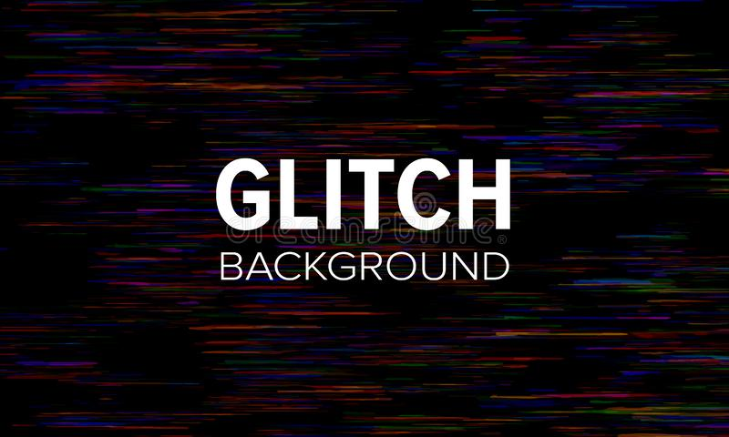Glitch style dark abstract background. Distorted pixels vector wallpaper royalty free illustration