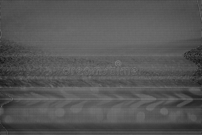 Glitch van het testscherm Textuur stock afbeelding