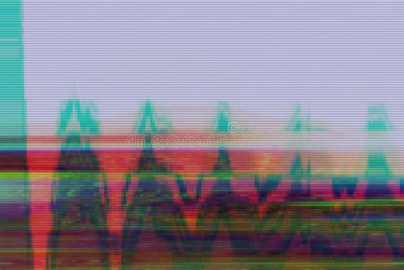 Glitch vhs background artifact noise,  display error. Glitch vhs background artifact noise damage texture,  display error royalty free illustration