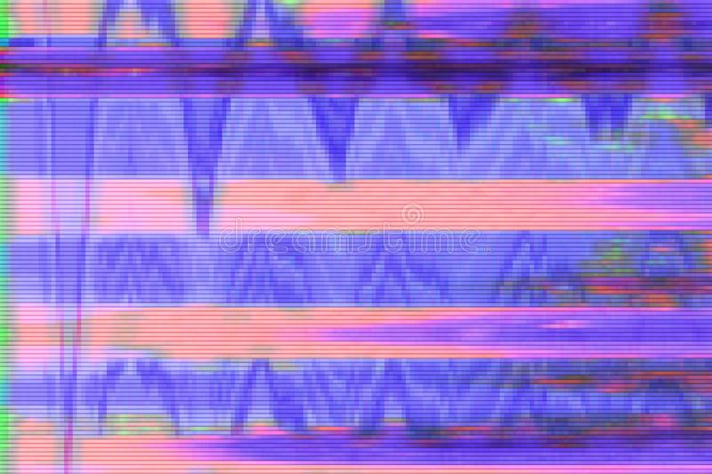 Glitch vhs background artifact noise,  screen screen glitch. Glitch vhs background artifact noise damage texture,  screen screen glitch stock illustration