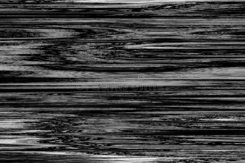 Glitch vhs monochtome digitale lawaaisamenvatting, stock illustratie