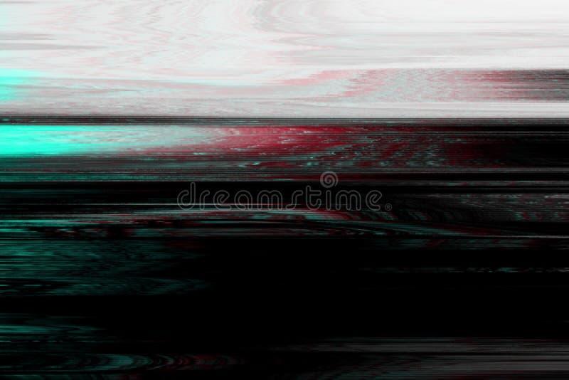 Glitch vhs monochtome lawaaisamenvatting, pixelvervorming glitch vhs monochtome achtergrondgeluiden, technologie grunge stock illustratie