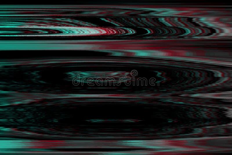 Glitch vhs monochtome lawaaisamenvatting, technologiefout glitch vhs monochtome achtergrondgeluiden, vervormingsvertoning royalty-vrije illustratie