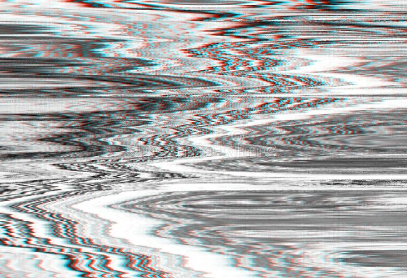 Glitch vhs monochtome noise abstract, interference.glitch vhs monochtome background noise, artifact. Glitch vhs monochtome noise abstract screen background royalty free illustration